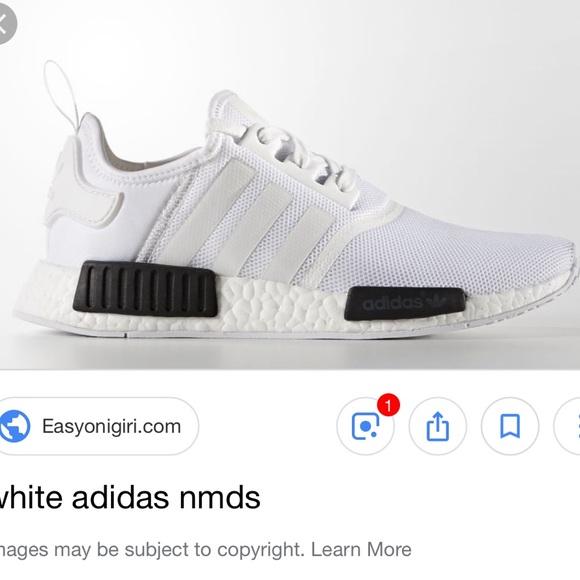 Adidas Shoes White And Black Nmd Tennis Poshmark